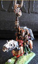 Warhammer Warriors of Chaos Sorcerer on Steed fully painted OOP Metal