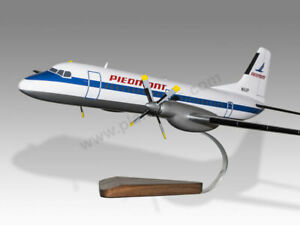 NAMC YS-11 Piedmont Airlines Solid Mahogany Wood Handcrafted Display Model
