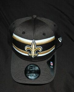 New Era New Orleans Saints Onfield 2018 39Thirty Flex Fit hat cap Small-Medium
