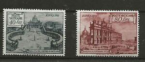 VATICAN 1949 - Both Basilicas Issues - EXPRESS - SG E149 Mint and SG E150 MNH