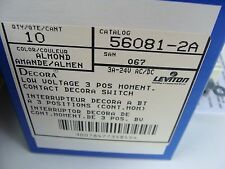 New Leviton 56081-2A Double Throw Switch 3 Pos. 24 Volt Momentary 3 Amp CTR Off