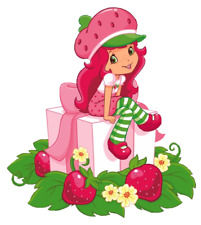 "Strawberry Shortcake Iron On Transfer 5"" x 5.5"" for LIGHT Colored Fabric"