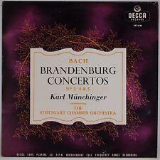 BACH: Brandenburg Concertos, Munchinger DECCA UK Orig  LXT 5199 LP Mono