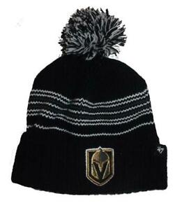 New Las Vegas Golden Knights Womens OSFA '47 Cuffed Knit Pom Beanie Hat $24