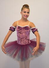 Cameo Short Dance Costume Ballet ROSE Powderpuff Tutu with Drop Sleeves CM,CL,AS