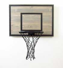 Indoor Basketball hoop goal grey with black reference boxes & 3 foam basketballs
