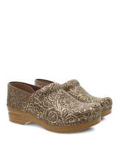 Womens Dansko Professional Antique Tooled Leather Pro Clog 906781212 Sizes 36-41