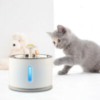 2.4L Pet Flower Water Fountain Automatic Drinking Bowl Dog Cat Water Dispenser