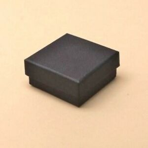 12 x Pack Small Black Gift Boxes   Jewellery/ Ring/ Earrings/ Party Favours etc.