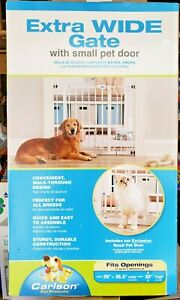 Carlson Extra Wide Pet Gate With Small Pet Door Quick And Easy To Assemble New