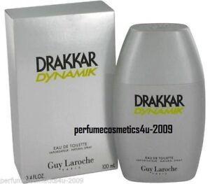 DRAKKAR DYNAMIK BY GUY LAROCHE COLOGNE FOR MEN 3.4 OZ / 100 ML EDT SPRAY NIB HTF