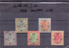 INDIA 1909 EDWARD SERVICE SG 068 - 072 USED TO RS.25