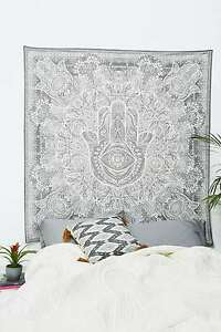 Traditional Fatima Hand Ethnic Cotton Wall Hanging Throw Bohemian Twin Tapestry