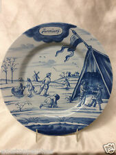 "DELFT HOLLAND METROPOLITAN MUSEUM OF ART MONTH OF YEAR JANUARY PLATE 9"" MMA"