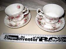 2 x tazze da tè + PIATTINI ROYAL ALBERT LAVENDER ROSE BONE CHINA ENGLAND o5n