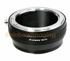 Nikon Lens to Fuji X-Pro2 X-T1 X-T2 X-T3 X-T30 X-T20 X-H100 Adapter US Seller