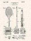 "1923 Tennis Racket by F.B. Andrews Vintage U.S. Patent  8.5"" x 11"" Art Print"