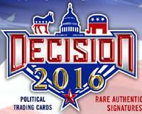 2016 Decision Political Trading Cards Blaster Box Donald Trump Hillary Clinton