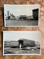 1920 'Agencia Maritima Nacional' Locomotive Guatemala FICA Railroad Photos RPPCs