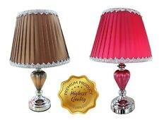 Uniware Led Table Lamp For Bedroom/Living Room,Brown/Red