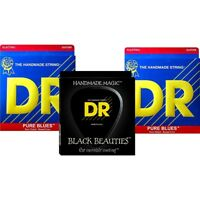 DR Strings Pure Beauties Pure Blues Electric Guitar Strings 3-Pack
