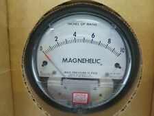 "Magnehelic Differential Pressure Gauge  0 - 10"" 15 PSI Dwyer 2010 NO Hardware"