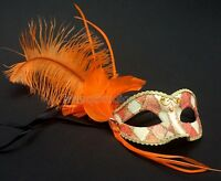 Handmade Burlesque Masquerade feather mask prom kids birthday surprise Party
