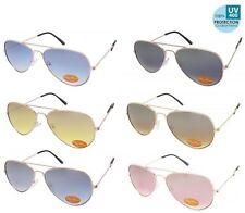 Unbranded Metal Gradient Pilot Sunglasses for Women