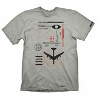CALL OF DUTY COLD WAR RADAR T-SHIRT GREY LARGE - GAMING MERCHANDISE