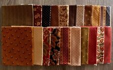 """Holly Hocks Fabric by Jo Morton 20 Piece Charm Pack 5"""" Fabric Squares"""