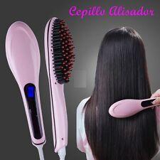 CEPILLO ALISADOR ELECTRICO LCD PEINE IONES PELO ALISADO FAST HAIR TEMP.60-230