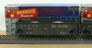 Roundhouse 1584 HO D&RGW Offset Ballast car Built Weathered KDs MW Load NICE!!