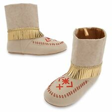 Disney Store Princess Pocahontas Halloween Costume Shoes Moccasin Boots 11/12