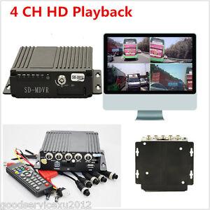 Mini 4CH BUS Big Car Type MPV Mobile HD DVR Realtime Video Audio Recorder Remote