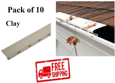 Pack of 10 Solid Gutter Guard SNAP-IN 40ft Cover Screen Debris Leaf Protection