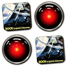 2001 A Space Odyssey Movie - Hal 9000 - Coasters - Wood - Set Of 4 - Sci-Fi Gift