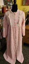Vintage Her Majesty Sears Pink Robe Housecoat Quilted Girl's 15-16