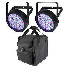 Chauvet Slim-Par 64 LED DMX Stage Lights (2 Pack) + Equipment Bag for 4 Lights