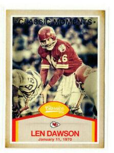 Len Dawson 2016 Panini Classics Classic Moments #4 Kansas City Chiefs HOF!