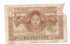 France 5 francs ND (1947) Tresor Francais