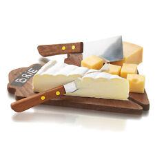 Formaggio da tavola set con 2 IN LEGNO FORMAGGIO consigli e 2 formaggio utensili di taglio.