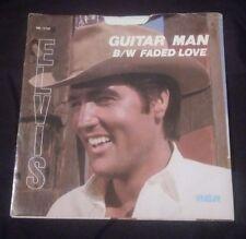 Elvis Presley - FADED LOVE / GUITAR MAN RCA 45 RPM PIC SLEEVE