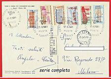 1961 STORIA POSTALE di CENTENARIO UNITA D' ITALIA in cartolina viaggiata serie