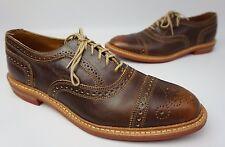 Allen Edmonds Strandmok Cap Toe Oxford Brown Leather Men's Shoes Size 10 D