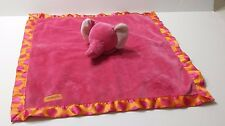 Carters Pink and Orange Elephant Polka Dots Lovey Security Blanket