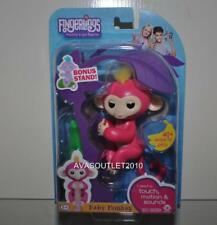 FINGERLINGS Bella Pink Finger Pet Baby Monkey WowWee 2017 New With Bonus Stand