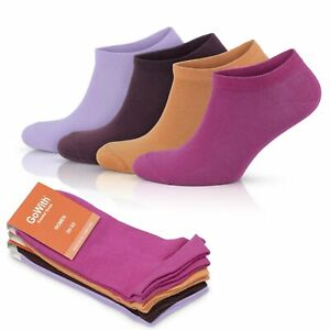 GoWith Women's Cotton Colorful Short Sport Sneaker Socks | 4 Pairs | Model: 2131