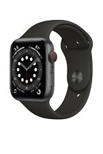 Apple Watch Series 6 GPS Cellular 44mm Space Gray Aluminum Case Black Sport Band