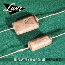 Luxe 1952-1953 Telecaster: Wax Impregnated Paper & Foil .1mF & .05mF Capacitors