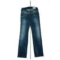 Pepe Jeans Perival Damen Hose Stretch straight leg low waist 27/32 W27 L32 Blau